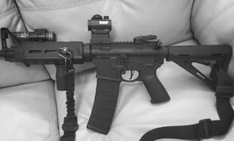 "Kelley, who was married, had recently posted a photo of an AR-15 style gun on his Facebook page with the caption: ""She's a bad b***h""."