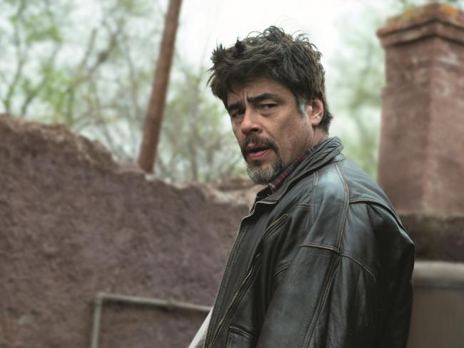 Benicio Del Toro in a scene from the movie A Perfect Day. Picture: Madman Films