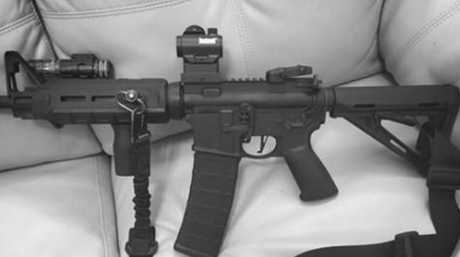 A picture published by The Daily Beast, said to be from Kelley's Facebook page, of a gun.