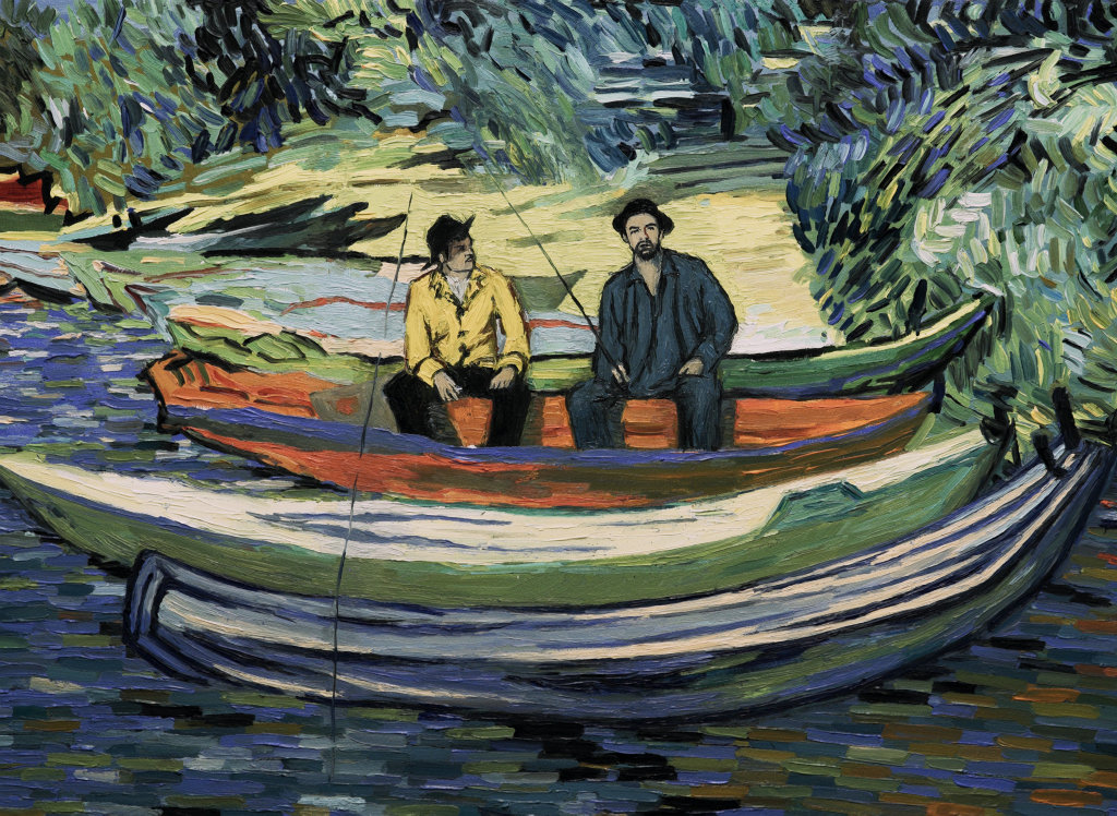 A scene from the movie Loving Vincent, the first ever fully painted feature film.