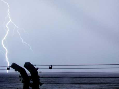 North Coast Storm Chasers took this lightning photo at Ballina.