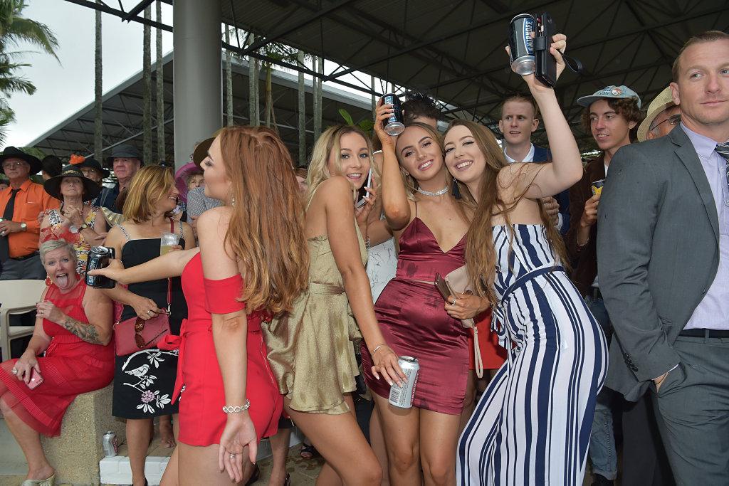 Melbourne Cup celebrations at Corbould Park, Caloundra.Celebrations