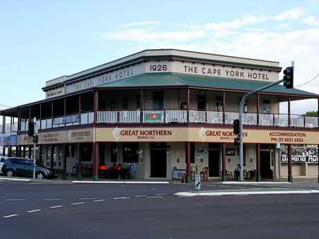 The historic Cape York Hotel.