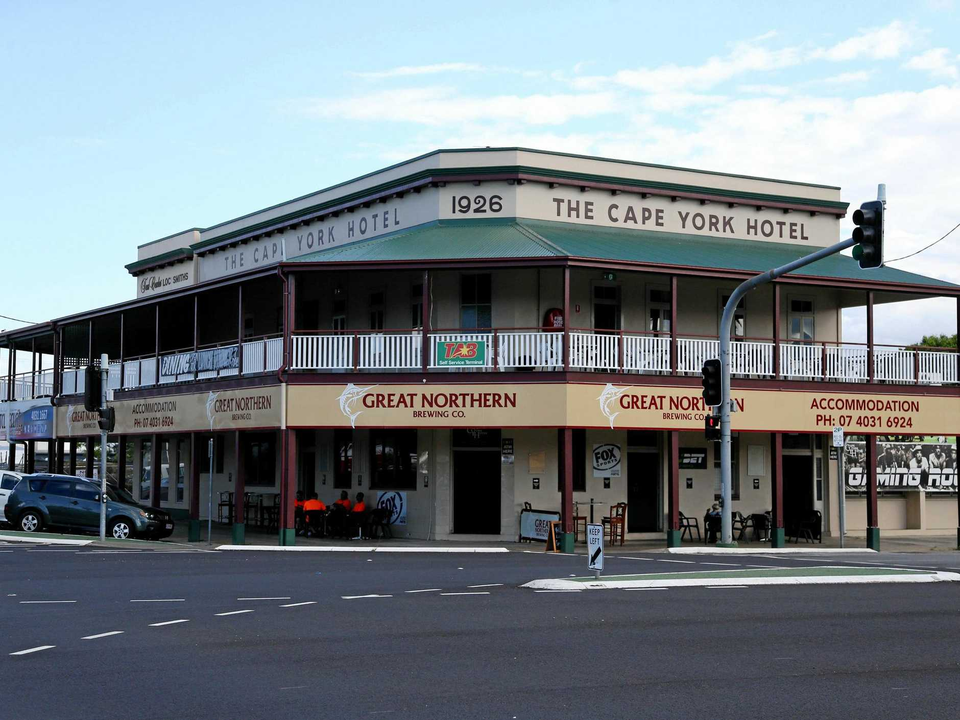 The historic Cape York Hotel.