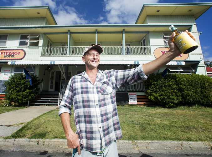 Shaun McCubbin, manager of the Fitzroy Hotel which has been part of life in Rockhampton for more than a century.