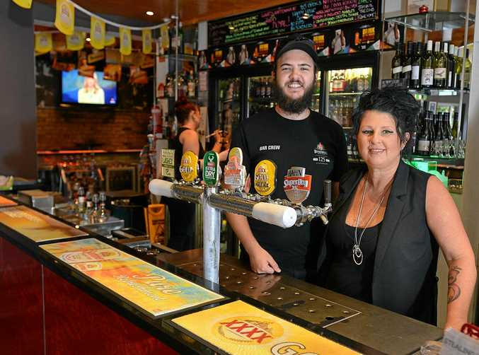 Lincoln Phelps and Stacey Lowe. managers of the Royal hotel in Gympie.