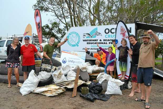 MAKING A DIFFERENCE: The Ocean Crusaders at a previous clean-up.