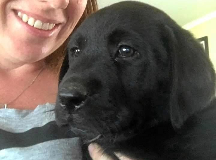 FURRY FRIEND: Marshall the black lab and owner Bianca Martin.