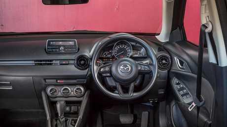 Inside the Mazda CX-3.