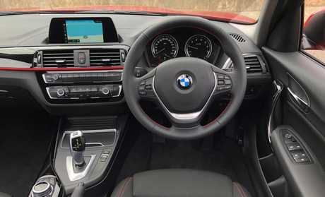 Inside the BMW 118i (2017 model shown).