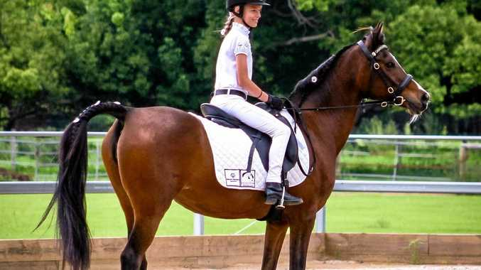 AS ONE: Megan Guilfoyle-Hurley, on top of horse Mishka, will compete at the Special Olympics Australia National Games in Adelaide in April 2018 for equestrian.