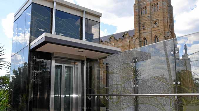 SHATTERED: Glass has been smashed at the Billy Day Underpass in Warwick.