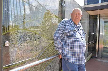UPSET: Warwick resident Graham Buchner is sad to see vandals target Billy Day Underpass.