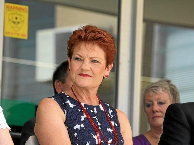 One Nation's Pauline Hanson.