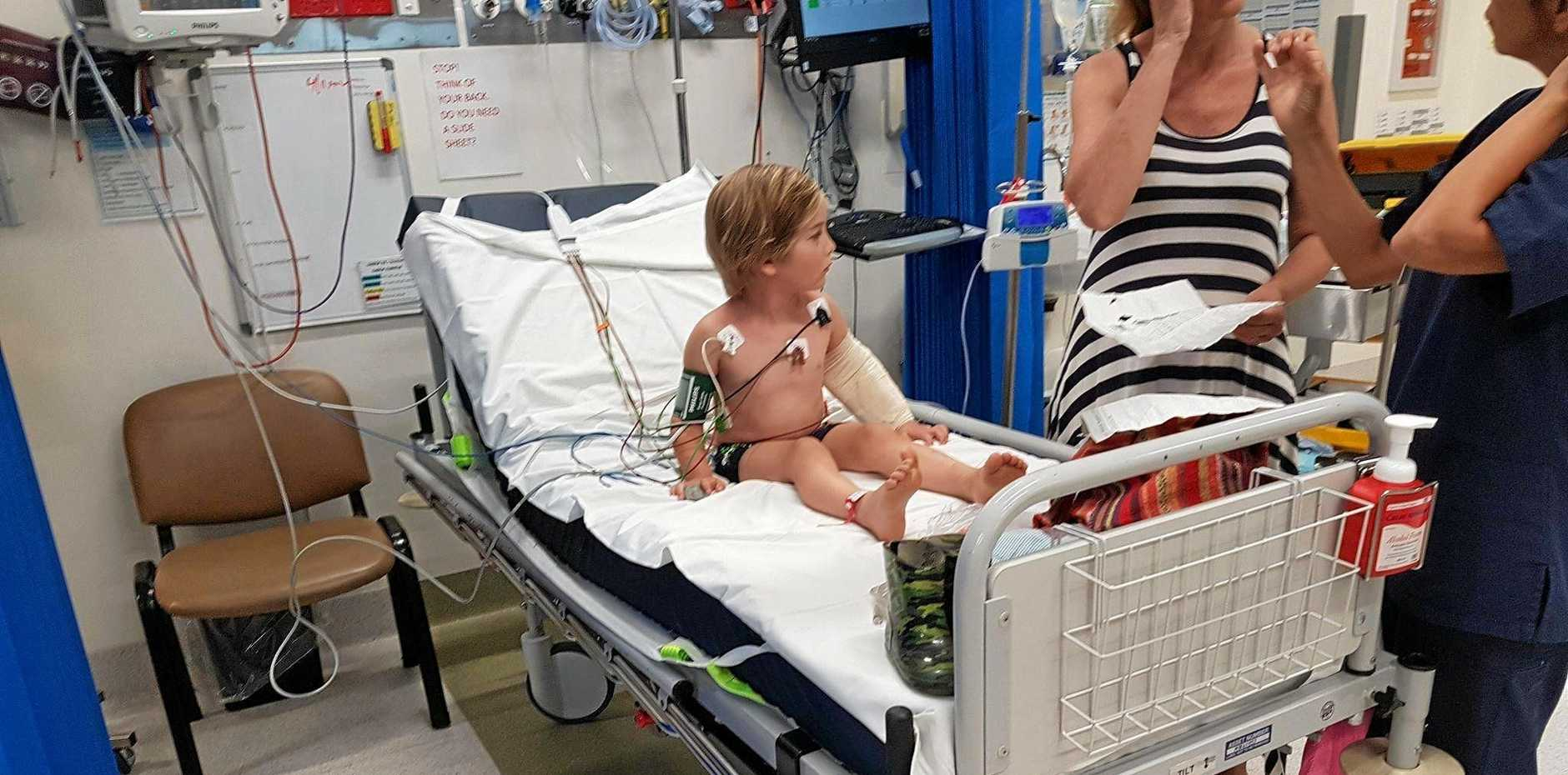 Billy Fetherston, 5, had a brush with death after suffering a severe reaction from a tick bite.