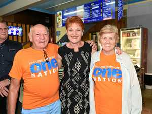 WATCH: Pauline Hanson's 'Battlers Bus' rolls into next stop
