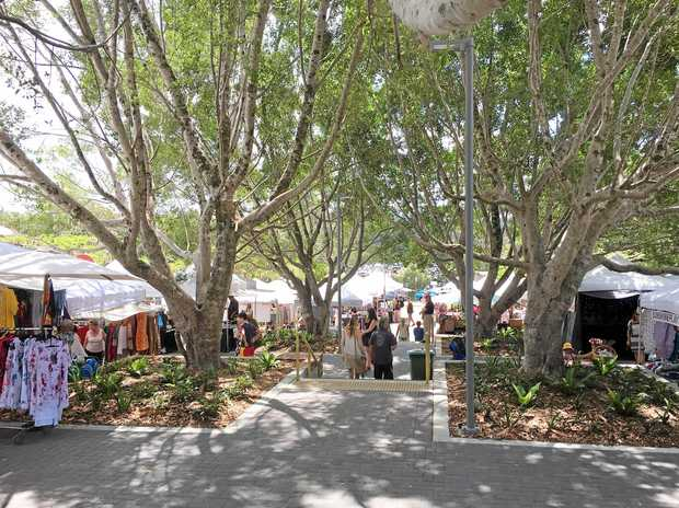 The terraces at the Eumundi Markets site have been upgraded.