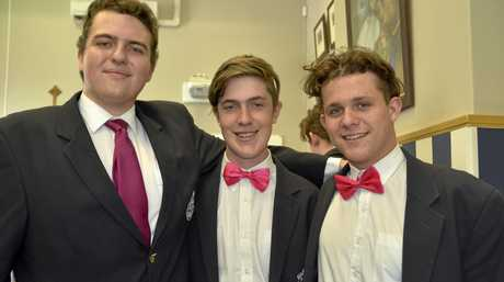 Robyn Chantler's accounting students from St Mary's College (from left) Xavier Argent, Riley Harvey and Thomas Chambers.