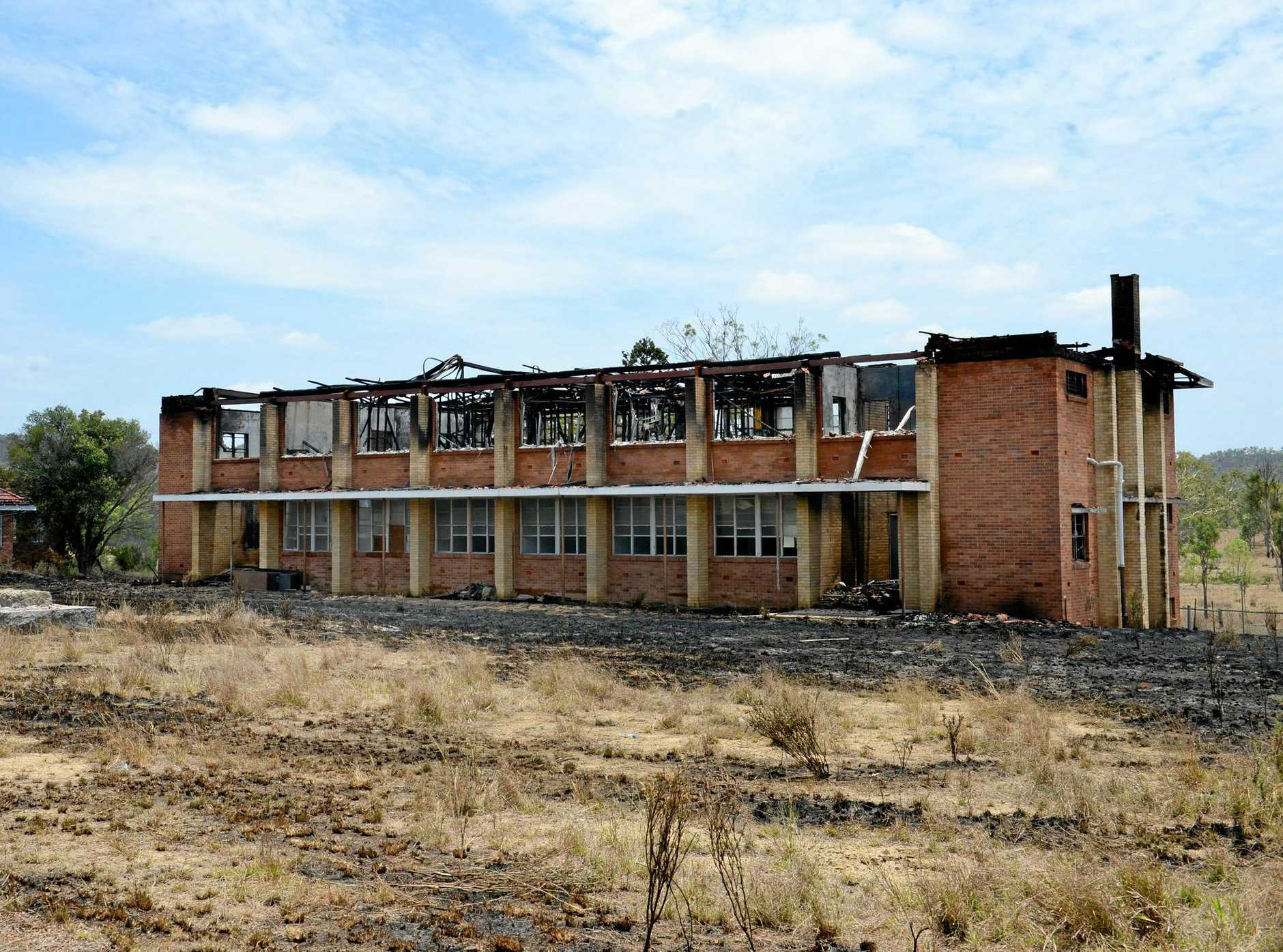 Fire damaged the former girls dorm at St Joseph's Home at Neerkol some years ago. Photo Allan Reinikka / The Morning Bulletin