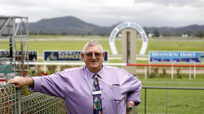 Tweed River Jockey Club chairmain Bernie Quinn at the Murwillumbah races on Melbourne Cup Day.