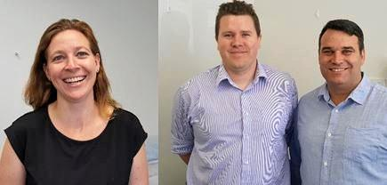 EXPANDING SERVICES: Ochre Medical Centre's three new GPs are Dr Ronda Gurney, Dr John O'Connor and Dr Thomas Perkins.