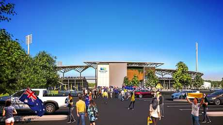 An artist's impression of the expanded Harrup Park Country Club resulting from the stadium development project.