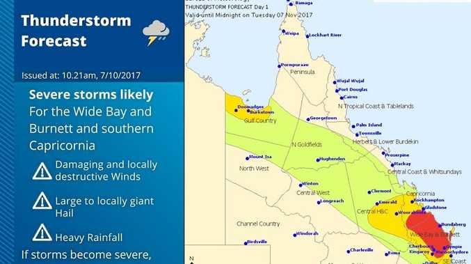 Bureau of Meteorology severe thunderstorm warning.