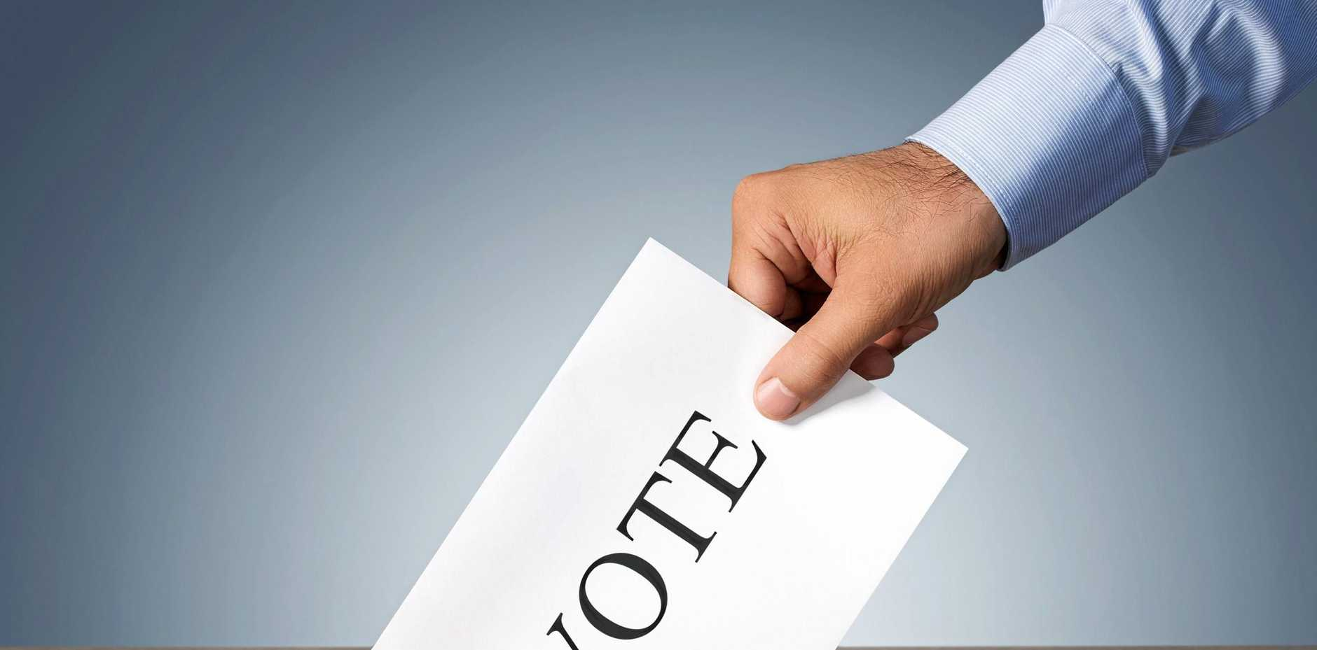 BALLOT SORTED: Greens on top of the list, LNP second, Labor fourth.