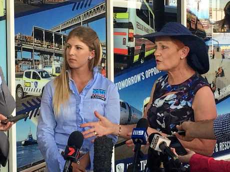 One Nation candidate for Gladstone Amy Lohse with Senator Pauline Hanson.