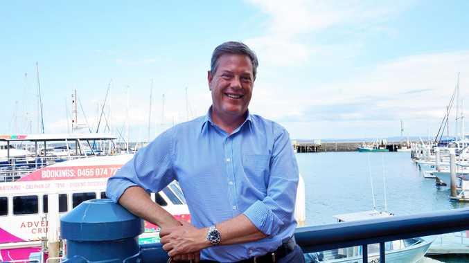 BAY VISIT: State Opposition leader Tim Nicholls in Hervey Bay.