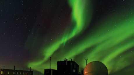 Aurora australis over Davis Station, Antarctica. Picture: Barend Beckerb