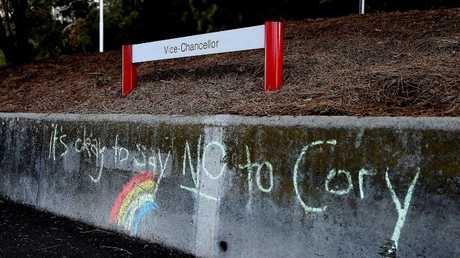 Students at the University of Tasmania boycotted a Coalition for Marriage rally held on campus. (Pic: Sam Rosewarne.)