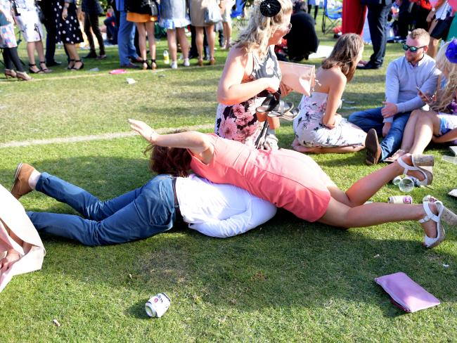 Why belly-flops are best kept to the pool. Picture: Tracey Nearmy/AAP