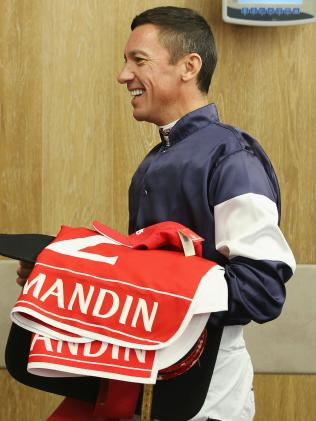 Frankie Dettori weighs in before the race. Picture: Getty