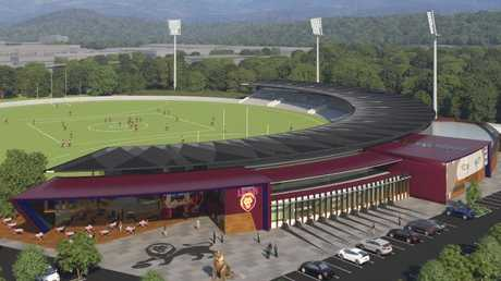 An artist's impression of the proposed new Brisbane Lions training base at Springfield.