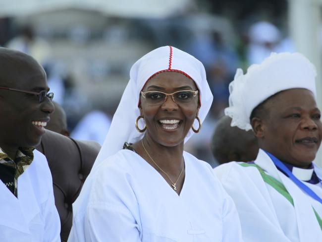 Zimbabwean first lady Grace Mugabe said on Sunday she was willing to succeed her ageing husband Robert Mugabe. Picture: AP/Tsvangirayi Mukwazhi