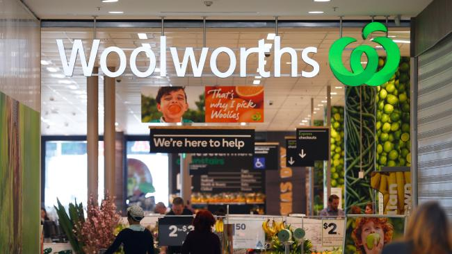 A Woolworths supermarket in Sydney. Picture: Brendon Thorne/Bloomberg