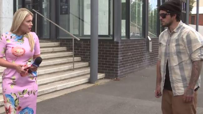 Maggie Raworth was trying to do a piece to camera when a total stranger decided to abuse her.