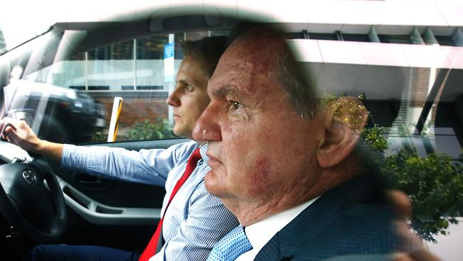 Former Ipswich Mayor Paul Pisasale on his way to court, Brisbane. File picture: Liam Kidston