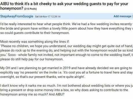 Tacky Or Not Where Do You Stand On Wedding Gift Debate Sunshine