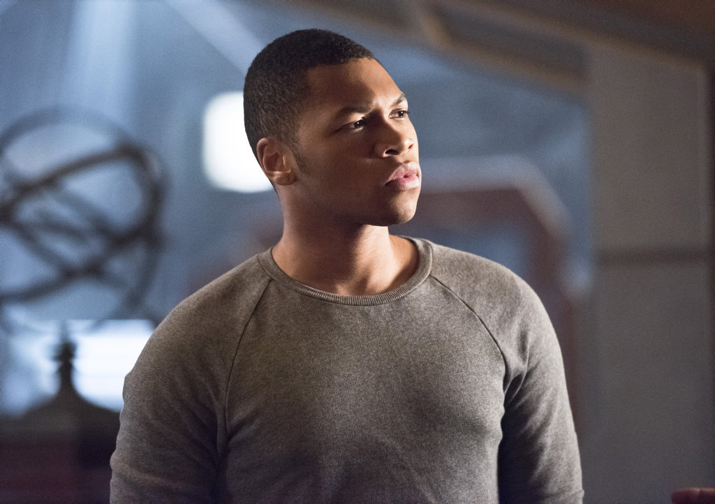Franz Drameh as Jax Jackson in a scene from Legends of Tomorrow.