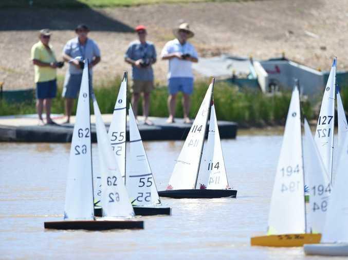 WELCOME MOVE: Fraser Coast Radio Yacht Club sailing at The Springs Estate lake on Madsen Rd, Nikenbah.