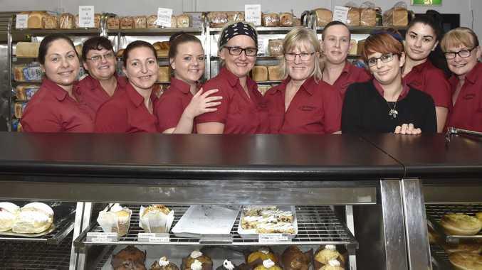 O'Donnell's Bake House, Hogg Street. From left; Tash Mitchell, Maxi Youngberry, Tracy Ingleton, Yaz Poppleston, Shelley Presland, Robyn O'Donnell, Anita Whittacker, Christy Clarke, Madie Cosinto, Karen Osborn. November 2017