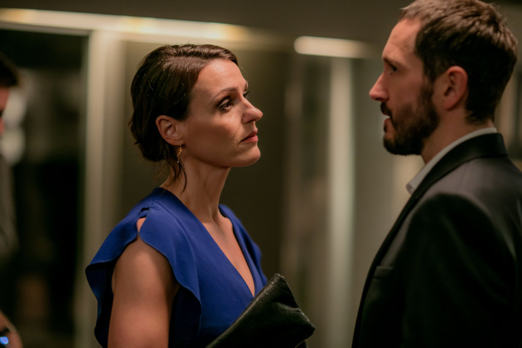 Suranne Jones and Bertie Carvel in a scene from season two of Doctor Foster.