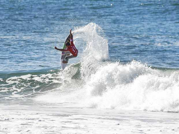 IN THE RUNNING: Julian Wilson was runner-up at the MEO Rip Curl Pro Portugal at Supertubos.