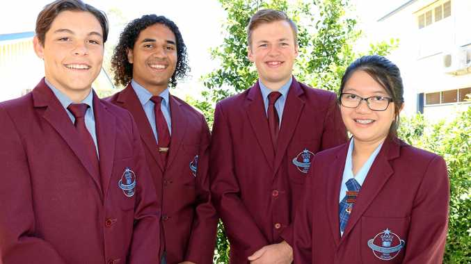 WINNERS: Proud to receive this year's major awards are Oakey State High School students (from left) Brayden Schilf, Hector Hilberto, Riley Ireland and Angela Oliquino.