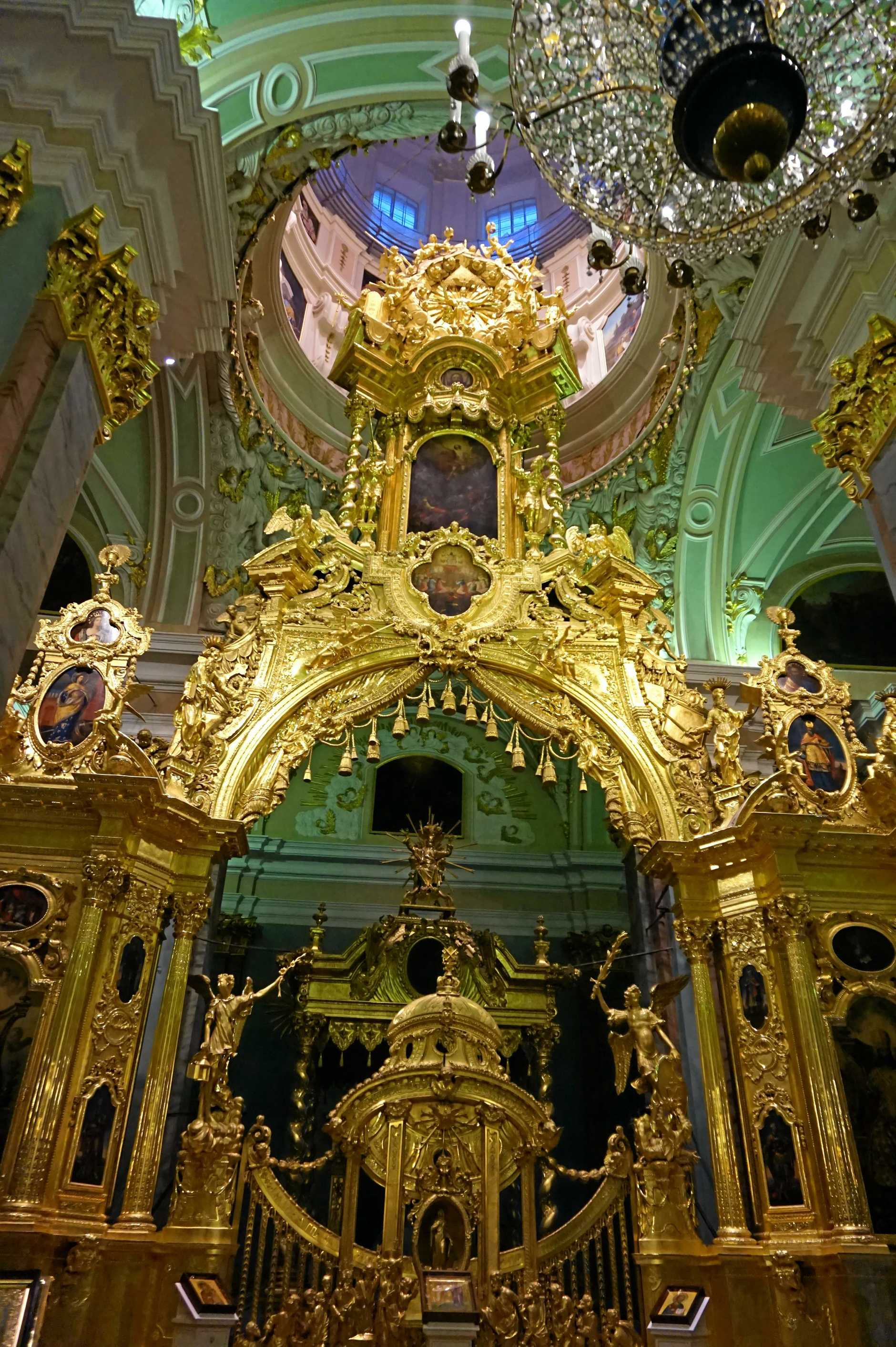 Inside the Peter and Paul Cathedral in St Petersburg, Russia, where the Russian Imperial family is buried.