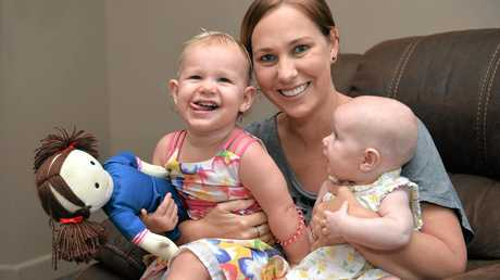 Lisa Field with her two children Milla and Piper.