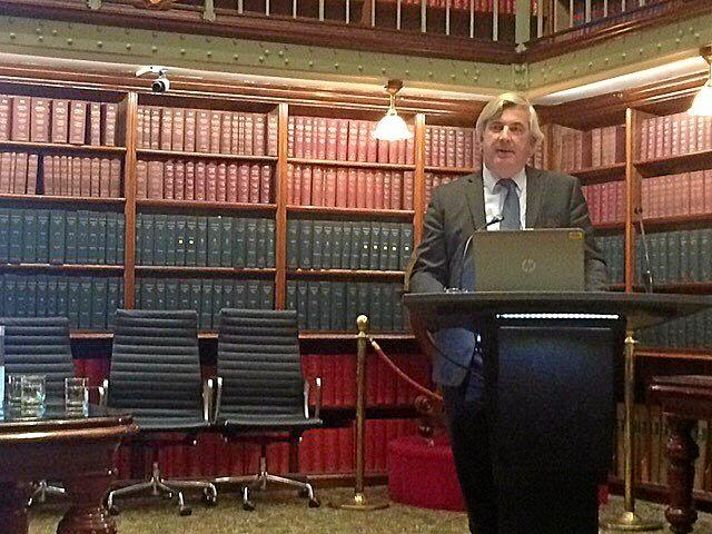 Country Universities Centre CEO Duncan Taylor addresses country mayors at Parliament House in Sydney earlier this year.