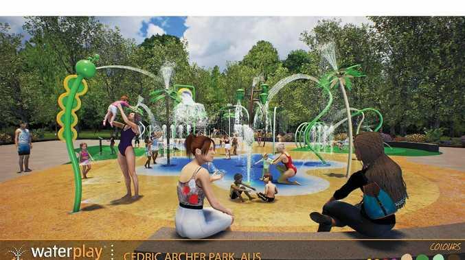 Rockhampton Regional Council has released design plans for the Cedric Archer Park's new $1.5 million water play area.